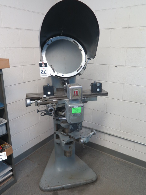 """J & L mdl. PC-14 Floor Model Optical Comparator w/ 6"""" x 30"""" Table and Acces"""