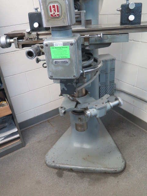 """J & L mdl. PC-14 Floor Model Optical Comparator w/ 6"""" x 30"""" Table and Acces - Image 3 of 6"""