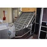 "Stainless Steel Incline Conveyor, 40"" Wide, SS Belt, Loading Fee: $1500"