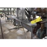 "Motorized Stainless Steel Screw Conveyor, 25' Length x 6"" Diameter Auger, Loading Fee: $650"