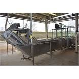 "Custom Designed and Fabricated Stainless Steel 20'L X 36 "" W X 36 "" Dirt and Rock Removal Tank,"