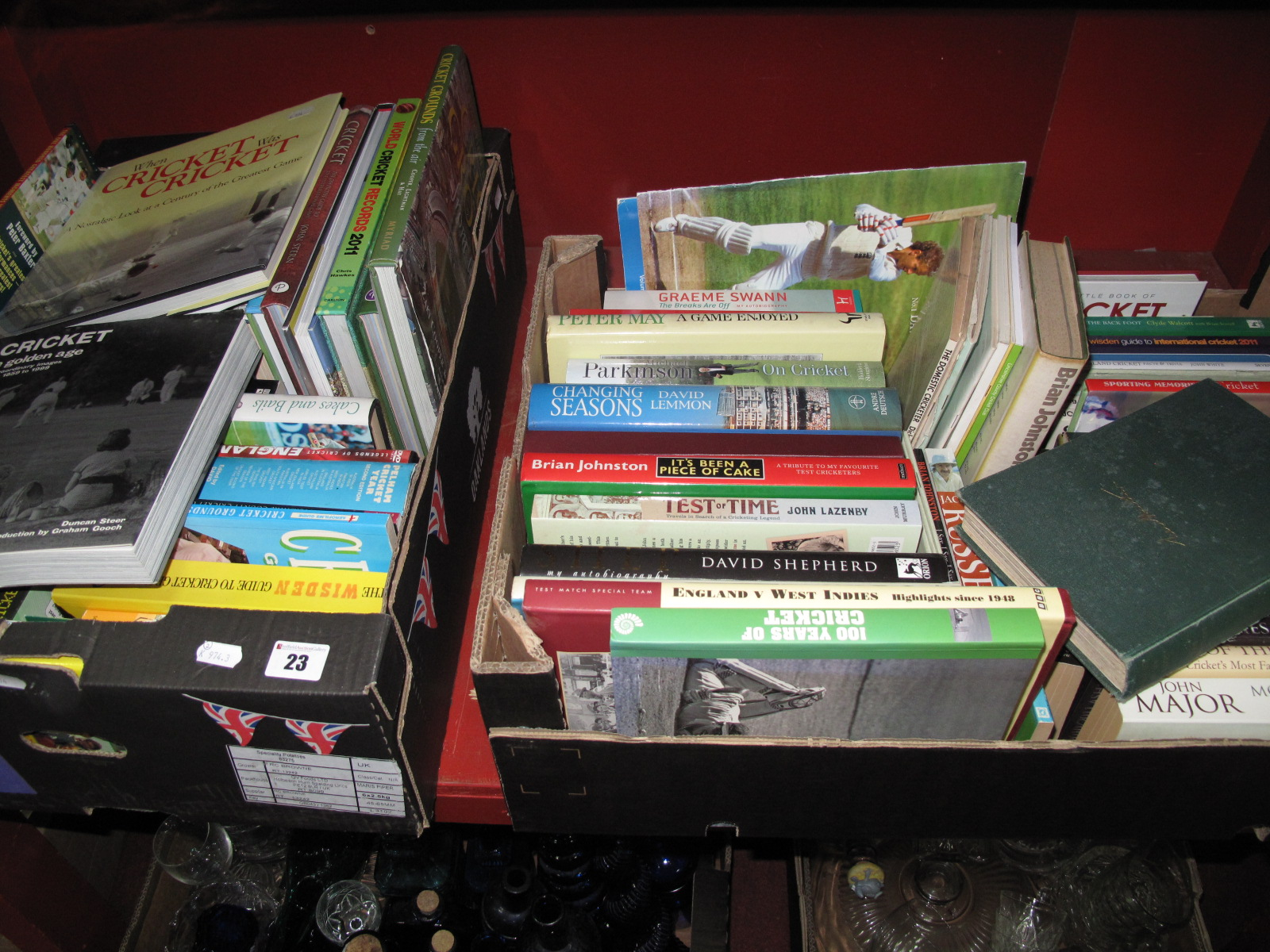 Lot 23 - Cricket Literature, a collection of cricket biographies, guides, reference history books,
