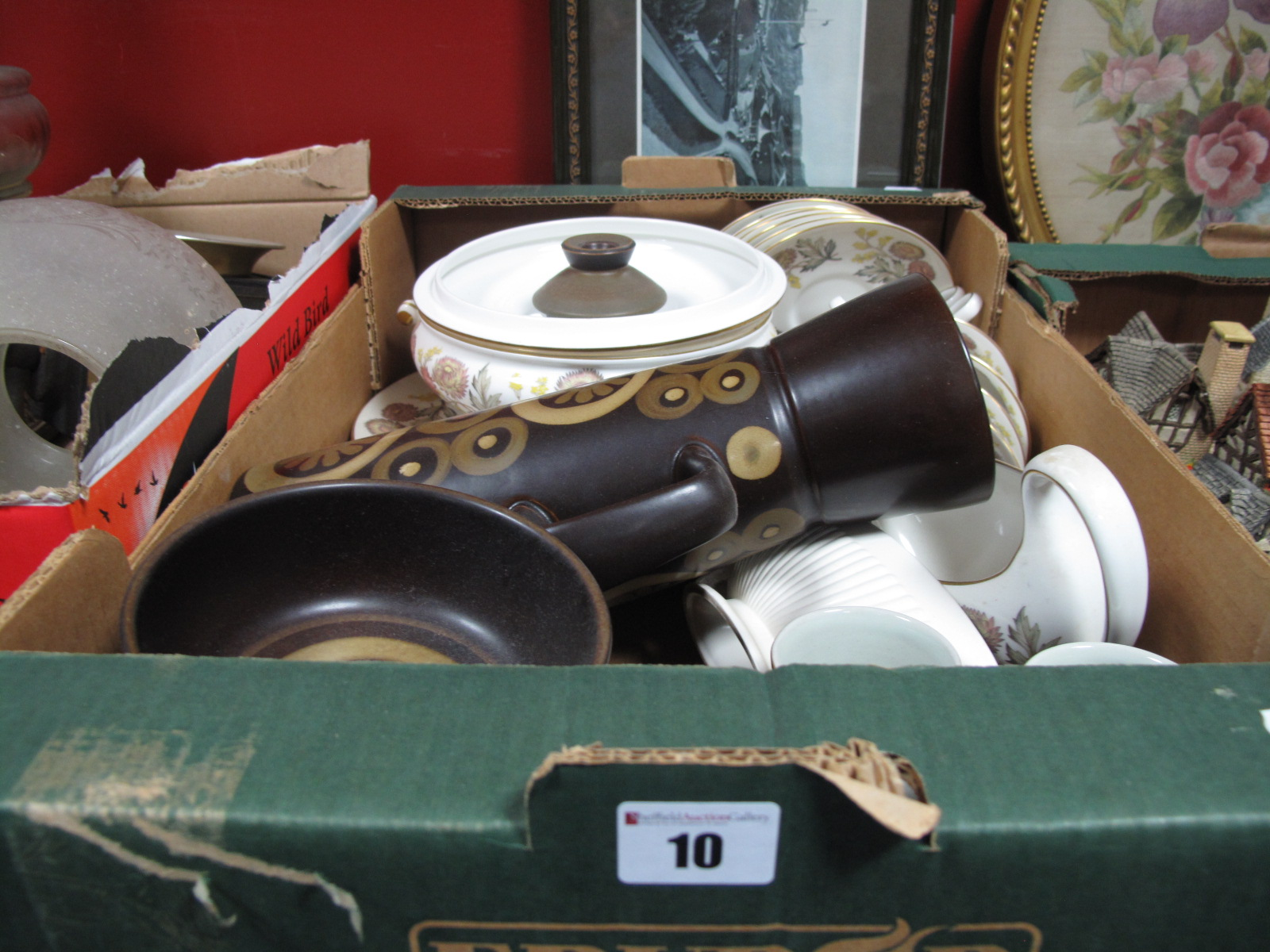 Lot 10 - 1970's Denby 'Arabesque' Pattern Coffee Ware, Wedgwood, 'Lichfield' dinner ware:- One Box
