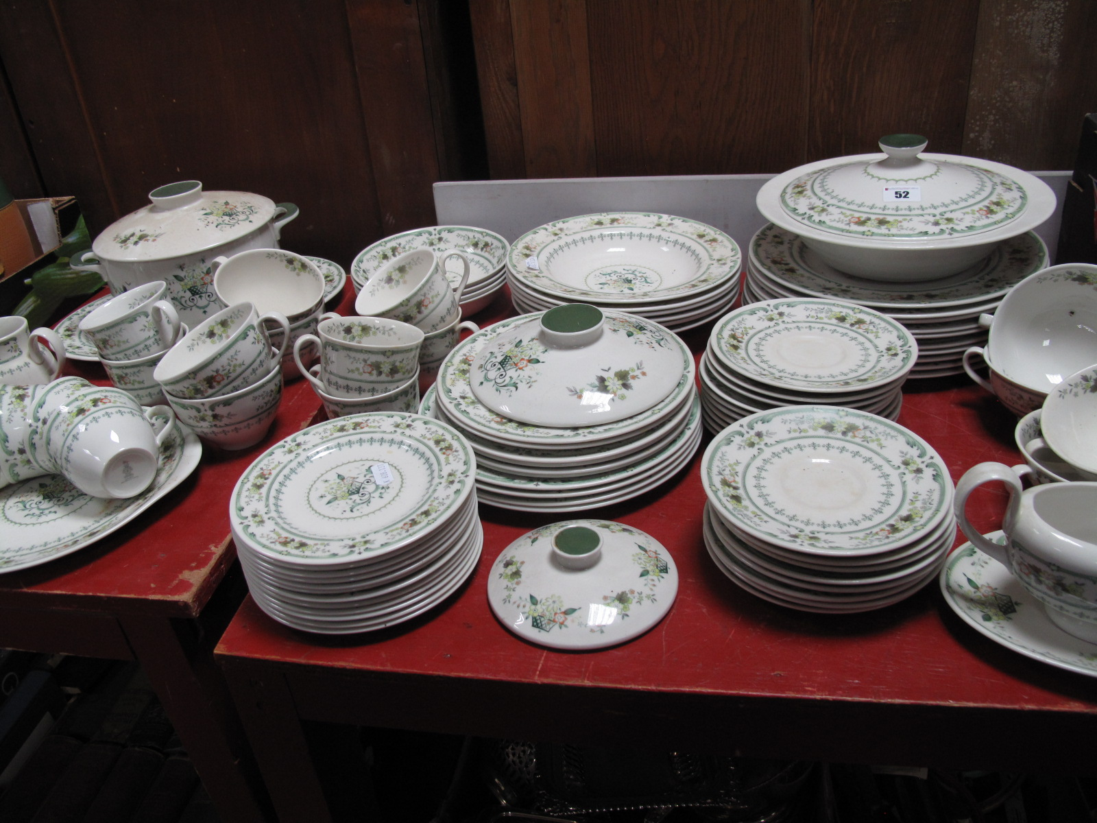 Lot 52 - A Matched Royal Doulton 'Provencal' Part Tea and Dinner Service, of approximately eighty five