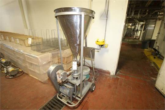 triclover triblender model fd sn j includes ss funnel mounted apv size positive