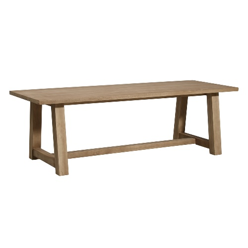 Lot 239 - Marbello Dining Table 240cm Rustic Rubber Wood 240cm X 90cm X 76cm