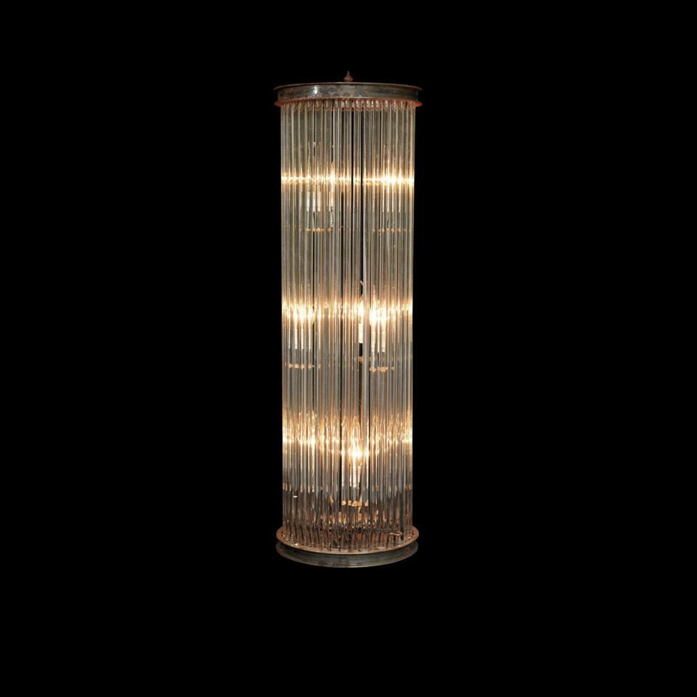 Lot 280 - Glass Rod Large Floor Lamp 160cm-Dark Bronze(Uk) The Rod Collection Is A Modern Day Interpretation