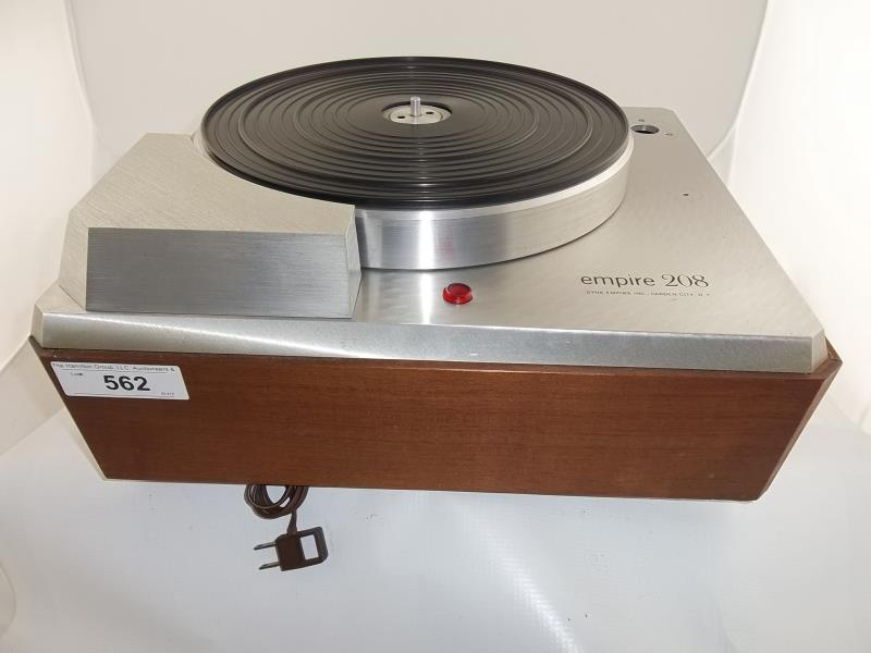 Lot 562 - Empire 208 turntable, brushed silver finish, no arm, #2769
