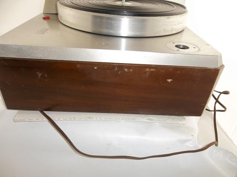 Lot 564 - Empire turntable, brushed silver finish (pitted) no arm, #16066
