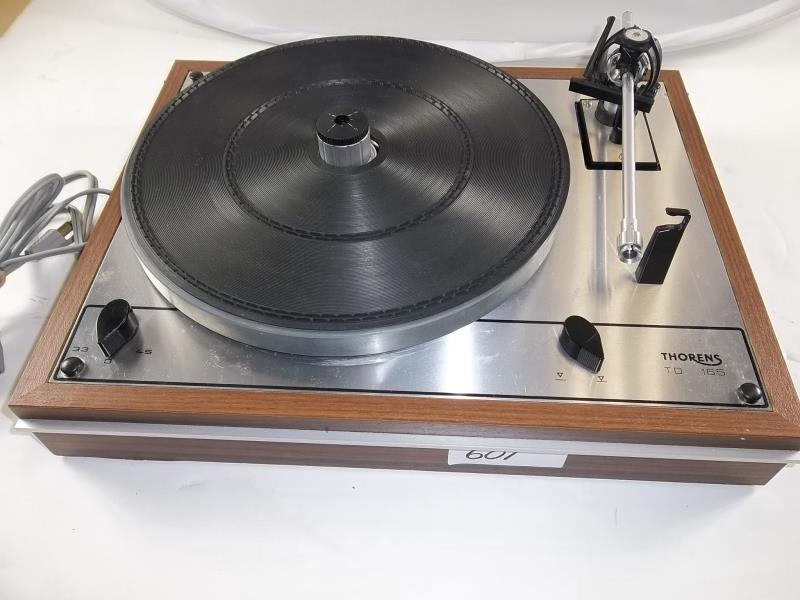 Lot 601 - Thorens TD 165 turntable, made in Germany, # 064063, 33, 45, arm not complete