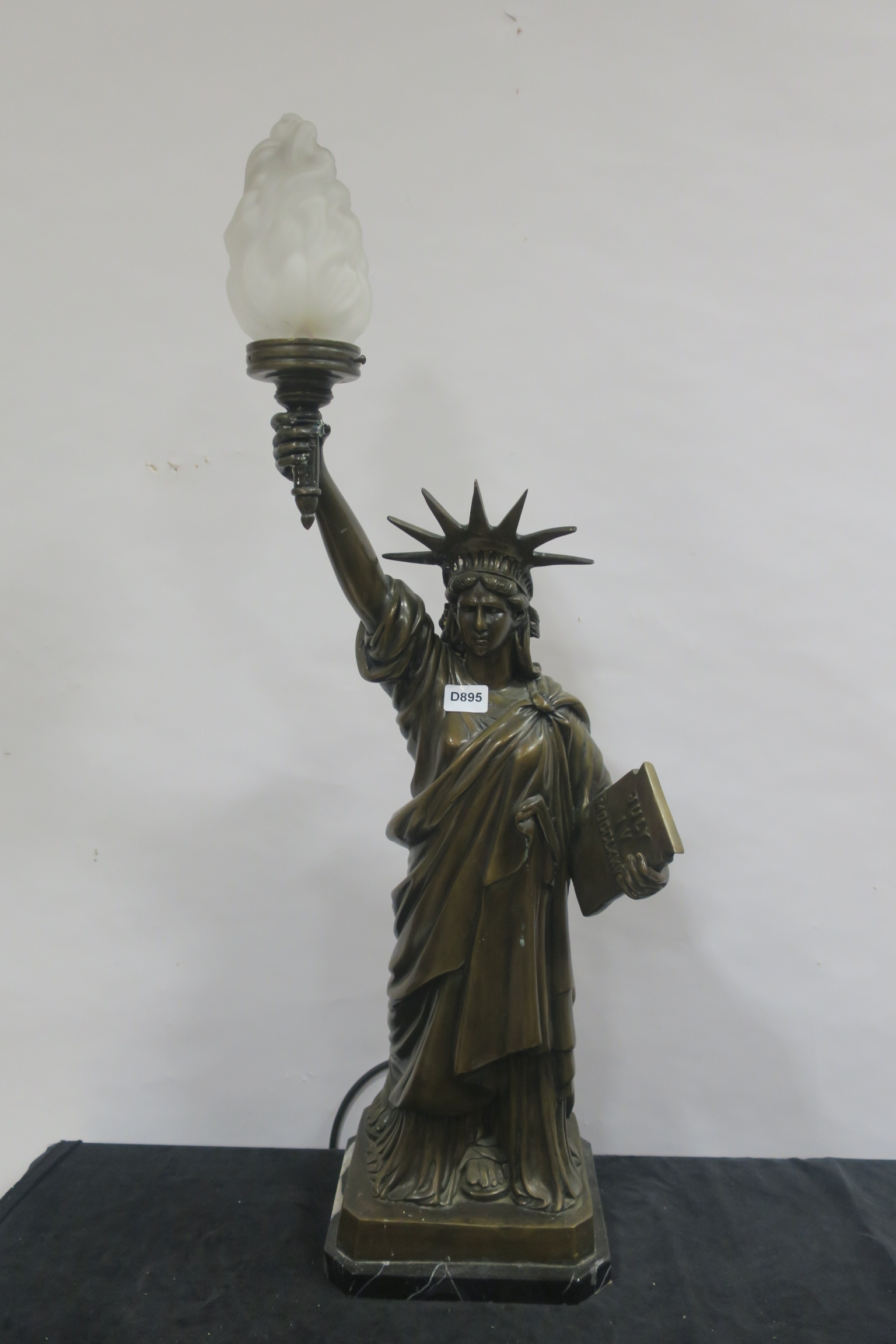 Lot 310 - A BRONZE FIGURAL TABLE LAMP,