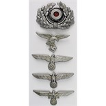 Lot 436 - German Nazi metal badges (5)