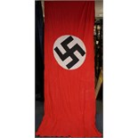 Lot 438 - German Nazi Podium banner (approx 142 inches x 42 inches) a/f