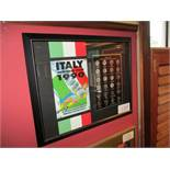 Italy World Cup 1990 commemorative medal collection, 24in w x 19in hgt ***Note from Auctioneer***