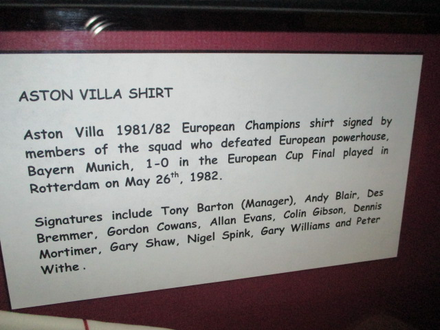 Lot 484 - Aston Villa European Champions 1981/82 signed replica jersey. Signed by 16 members of the1981/82