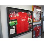 Liverpool special edition 04/05 Champions League Final shirt and photographs signed by members of