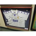 Official Real Madrid shirt (No.4 Roberto Carlos on back) has been signed by members of the 1997/98