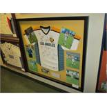 LA Galaxy signed jersey (18 signatures) and signed individual photos of team that won 2002 MLS Cup