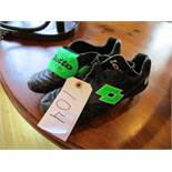 Signed pair of Cafu's Lotto Stadio football boots, signed by the Brazilian World Cup winning captain