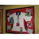 Michael Owen: a signed white No. 20 England 1998 England World Cup International jersey. This was