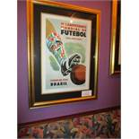 World Cup 1950 Brazil print, 5 of 4000, 24in w x 34in hgt ***Note from Auctioneer*** All items