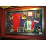 U.S. National Women Team signed women's jersey from victory over Mexico, January 12, 2002 at