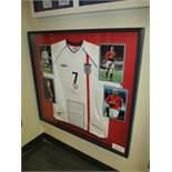 David Beckham's signed spare England National Team jersey from International Friendly match