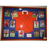 Holland National Team jersey signed by members of the 1998 World Cup team in France - 20