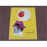 Richard Lindner Signed Poster  60cm x 77cm  Note: some fraying on edges,