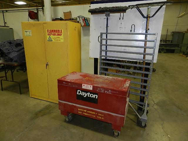 Dayton Fliptop job box, Eagle 2-door flammable storage cabinet ...