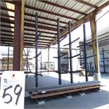 50''D x 200''W x 16'T, 26-Arm Double Sided Cantilever Rack (No Contents)