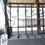 50''D x 218''W x 16'T, 30-Arm Double Sided Cantilever Rack (No Contents)