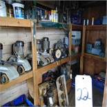 (Lot) Power Feed Unit, Motors, Electrical Boxes & Misc. in Room