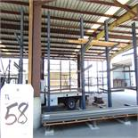 50''D x 88''W x 16'T, 12-Arm Double Sided Cantilever Rack (No Contents)