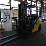 (2015) Komatsu FG5-A-TV10, Type G/LP, LPG Forklift, 9,000lb, Solid Tires, 3-Stage Mast, Side