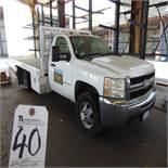 (2008) GM mod. 3500 HD Vartec 6.0 Liter, 12' Stake Bed Truck, Miles: 57,201, Lic: 8U52131; VIN: