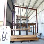 52''D x 98''W x 16'T, 9-Arm Single Sided Cantilever Rack (No Contents)
