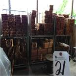 (Lot) 16'' Wood Stakes w/ Carts
