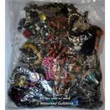 Sealed bag of costume jewellery, gross weight 3.21 kilograms
