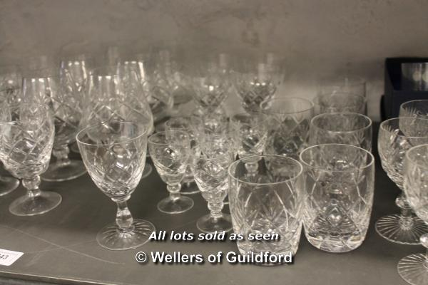 A quantity of cut glass wares. - Image 3 of 4