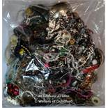 Sealed bag of costume jewellery, gross weight 4.01 kilograms
