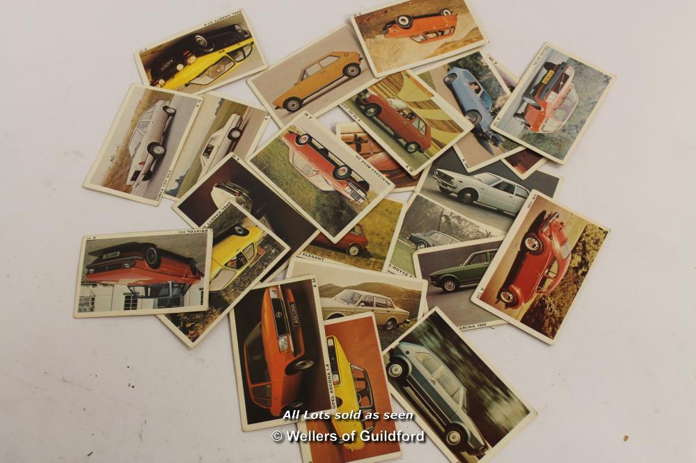 Lot 7611 - *Automotive Bubble Gum Cards Cars 1977 X 23 Denmark - (Lot Subject To VAT) [LQD100]