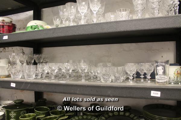 A quantity of cut glass wares.