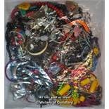Sealed bag of costume jewellery, gross weight 3.72 kilograms
