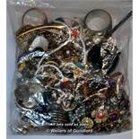 Sealed bag of costume jewellery, gross weight 3.82 kilograms