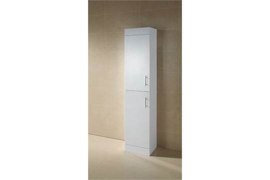 vogue options white gloss bathroom 1800mm tall boy storage cab