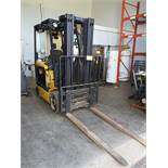 """YALE ERC050GHN48TE084 36V 3,700LB ELECTRIC FORKLIFT, 3-STAGE MAST, 194.9"""" MAX LIFT W/ CHARGER,"""