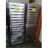 LOT OF (2) 13-TRAY STEAM CARTS/TRAYS