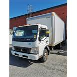 2009 MITSUBISHI FE180 DIESEL BOX TRUCK W/ AUTOMATIC TRANSMISSION, 16' BOX, VIN# JLLCCG1S1AK009591,