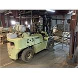 Located in Canon City CO: Clark Forklift, Model C500 YS80, 8000lbs, lp, approx 8' forks, currently
